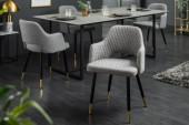 Stuhl Paris Strukturstoff hellgrau/ 40570