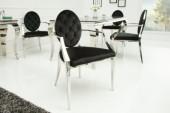 Stuhl Modern Barock m. Armlehne schwarz/ 37355
