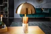 Tischleuchte Burlesque gold Marmor weiss / 40778