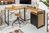 Eck-Schreibtisch Studio Eiche-Optik/ 40625