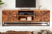 TV Lowboard Wood Art 145cm Mango/ 40527