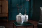 Vase Oriental 2er Set silber/ 40102