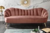 Sofa Arielle 220cm Samt altrosa/ 40750