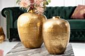 Vase Oriental 2er Set gold/ 40382