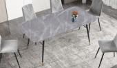 Esstisch Paris 180cm Glas Marmor-Optik grau/ 40847