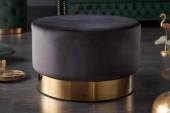 Hocker Modern Barock 55cm schwarz gold/ 40725