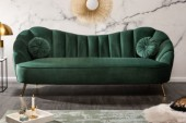 Sofa Arielle 220cm Samt flaschengrün/ 40749