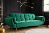 Schlafsofa Boutique 215cm smaragdgrün Samt/ 40566
