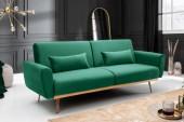 Schlafsofa Bellezza 210cm smaragdgrün Samt/ 39914