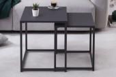 Beistelltisch Dura Steel 2er Set schwarz Metall/ 40859