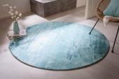 Teppich Modern Art 150cm rund türkis beige/ 41263
