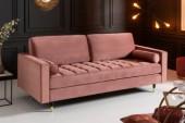 Sofa Cozy Velvet 225cm altrosa Samt/ 41071