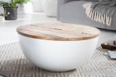 Couchtisch Jakarta 70cm weiss Recyclingholz/ 40893