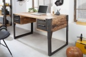 Schreibtisch Factory 135cm Mango natur/ 40548