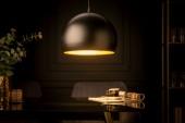 Hängeleuchte Glow schwarz Blattgold/ 41320
