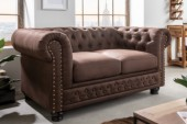 Sofa Chesterfield II 2er 150cm vintage braun/ 40653