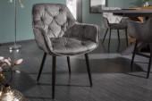 Stuhl Milano graugrün Samt/ 41180