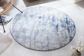 Teppich Modern Art 150cm rund blau beige/ 41268