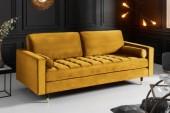 Sofa Cozy Velvet 225cm senfgelb Samt/ 41072
