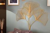 Wanddekoration Ginkgo 90cm gold/ 41274